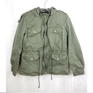 Forever 21 Womens Size M Utility Full Zip Jacket